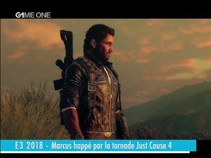 E3 2018 - Marcus happé par la tornade just cause 4