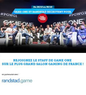 Rejoignez le staff de Game One sur le plus grand salon gaming de France