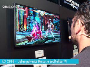 E3 2018 - Julien pulvérise Marcus à Soulcalibur VI