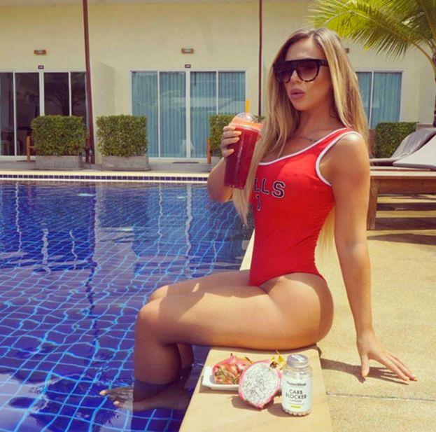 Expectativa Nº UNO: Lucir así de perfecta cuando estás sentada en la piscina/ Instagram