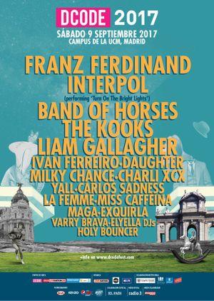 Franz Ferdinand confirmado como cabeza de cartel del DCODE 2017