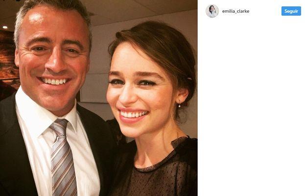 6. Emilia Clarke de Matt LeBlanc