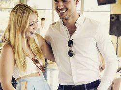 Pillan a Taylor Lautner y a Billie Lourd besándose en público