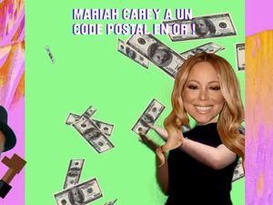 Mariah Carey un code postal en or !