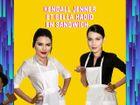 Kendall Jenner et Bella Hadid en sandwich