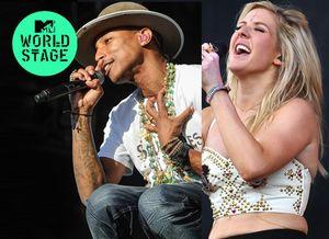 Pharrell + Ellie Goulding Live At Wireless Festival 2014