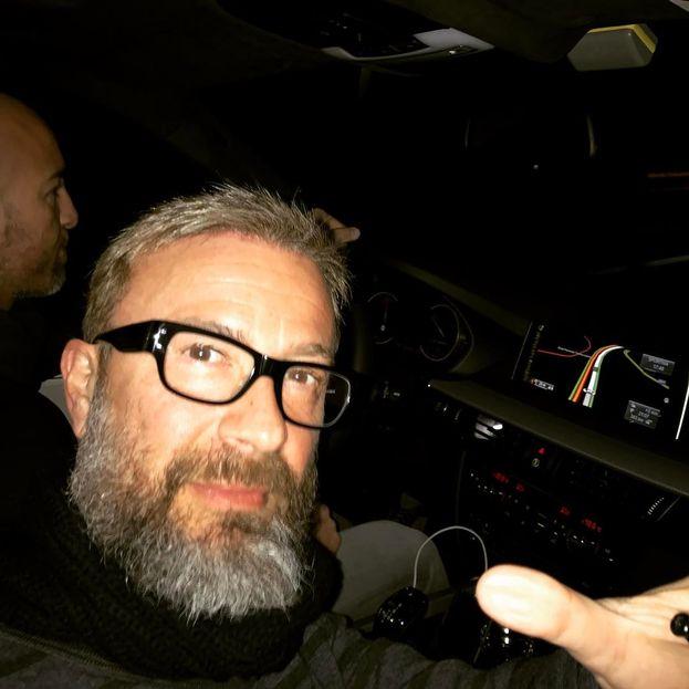 Marco Masini in viaggio verso Sanremo