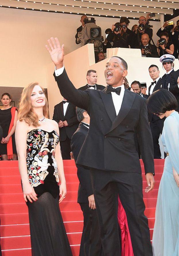 Jessica Chastain e Will Smith alla serata di inaugurazione