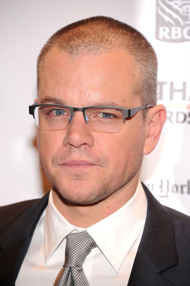 """Matt Damon nel 2011, con la ricrescita appena iniziata dopo essersi rapato per girare """"Elysium""""."""