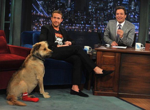 Ryan Gosling ha portato il suo cane George nello studio di Jmmy Fallon
