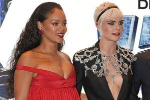 Rihanna e Cara Delevingne alla premiere di