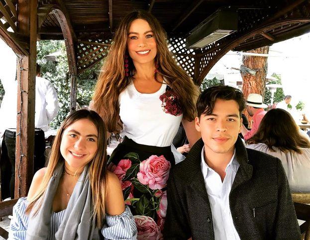 E con i figli Manolo e Claudia