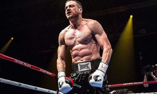 "Qui Jake ha messo massa per il film del 2015 ""Southpaw - L'ultima sfida"""