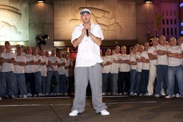 Eminem durante la sua incredibile performance nel 2000