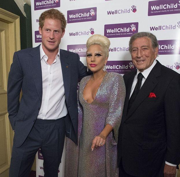 Il principe Harry, Lady Gaga e Tony Bennett
