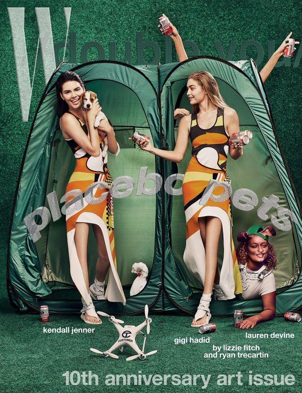 Kendall Jenner e Gigi Hadid - Tanto, a chi servono le ginocchia?