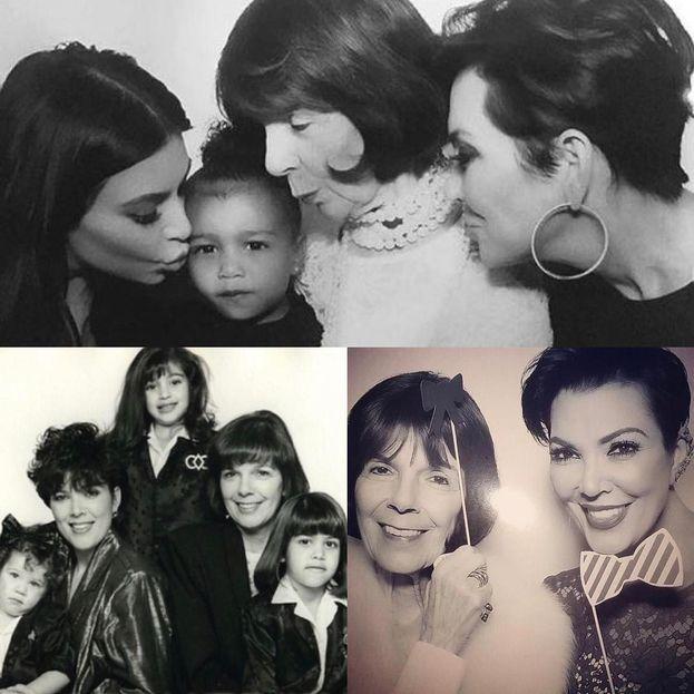 Kris con un po' di figlie e sua mamma MJ