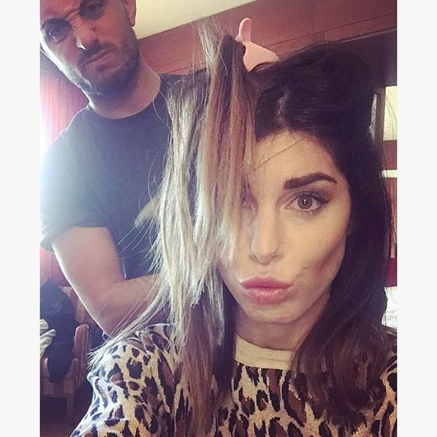 Bianca Atzei al trucco e parrucco prima delle ultime prove :)