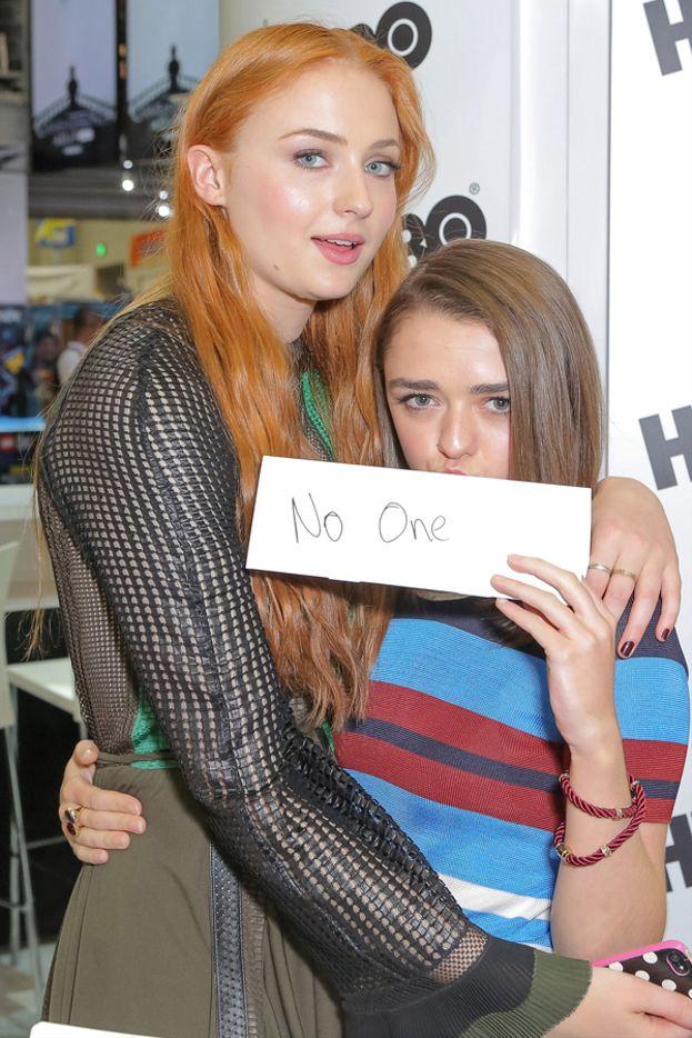 """Sophie invece ha risposto: """"Arya, perché Maisie è la mia pirincipessa e probabilmente è l'unica di noi sana di mente""""."""
