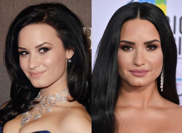 Demi Lovato nel 2010 e oggi. Miracoli del make up giusto - e del microblading ;)
