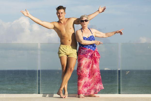 Liam e sua nonna Rita