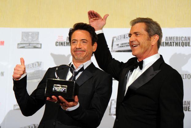 Mel Gibson e Robert Downey Jr.