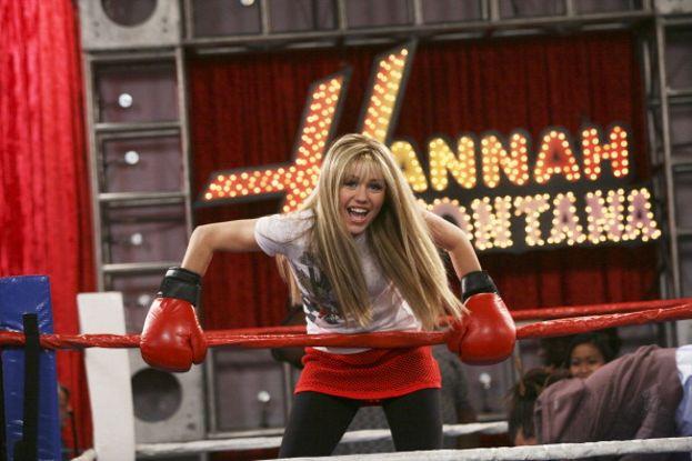 Sul ring con Hannah Montana