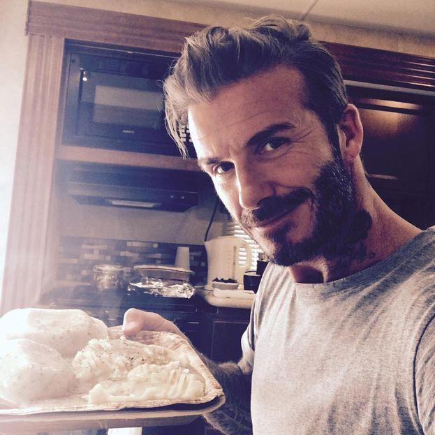 David Beckham - C'è una cosa in cui non sia perfetto? Il cuoco di casa è lui!