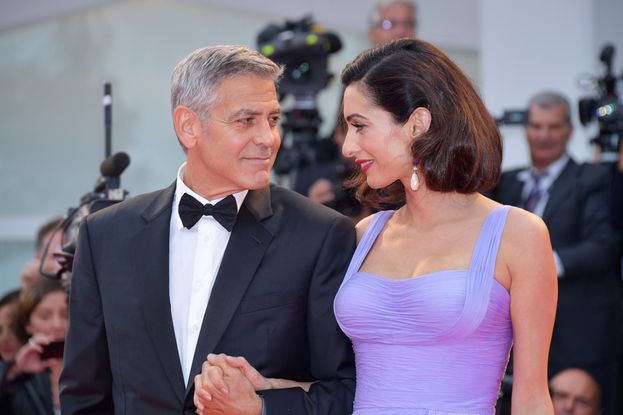 George Clooney: 2 volte. Talia Balsam e Amal Alamuddin