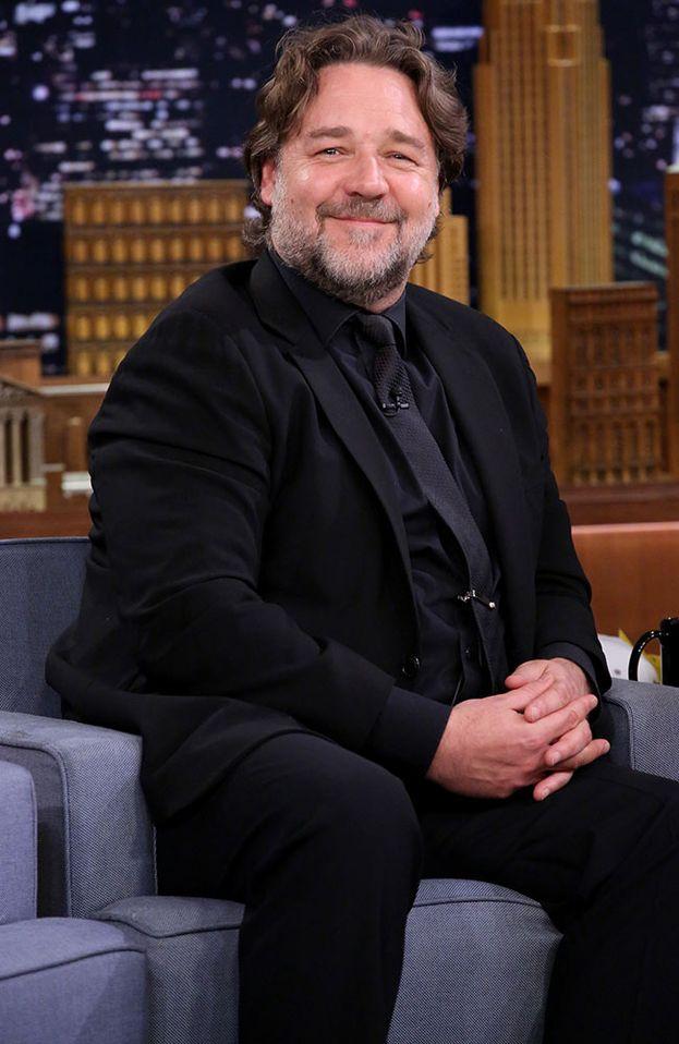 Un Russell Crowe un po' arrotondato nel 2015