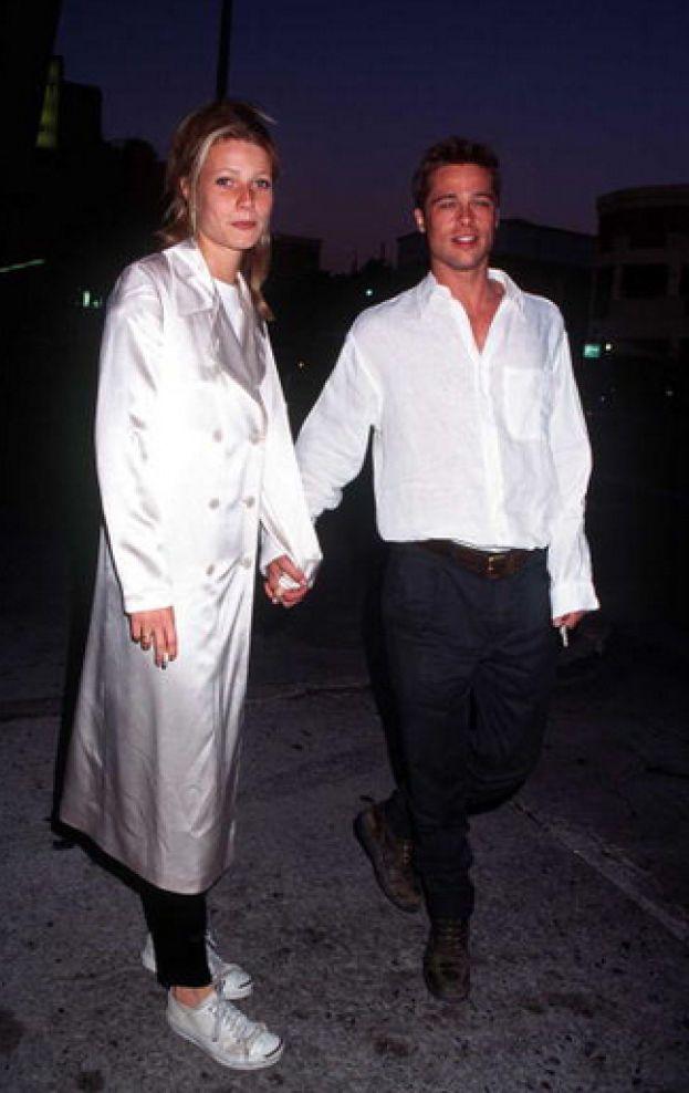 """Gwyneth Paltrow. Esatto: i due fanno coppia per quasi tre anni, dal 1994 al 1997. La scintilla scocca sul set di """"Seven"""", nel 1996 Brad le chiede di sposarlo, ma le cose non vanno e arriva la separazione."""