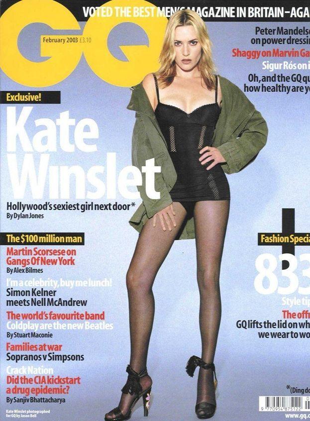 """Kate Winslet - Cura dimagrante lampo. Il suo commento quando ha visto la foto: """"Mi hanno ridotto di un terzo la dimensione delle gambe""""."""