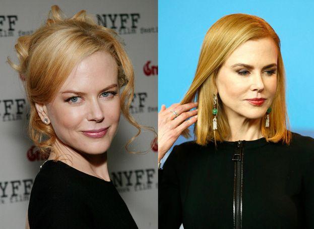 Nicole Kidman (a sinistra com'era nel 2003) aveva due sopracciglia tipo ali di gabbiano. Le ha infoltite e ammorbidite, dando loro un effetto più naturale.