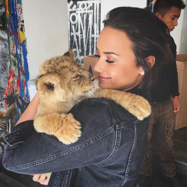 Demi Lovato e cucciolo