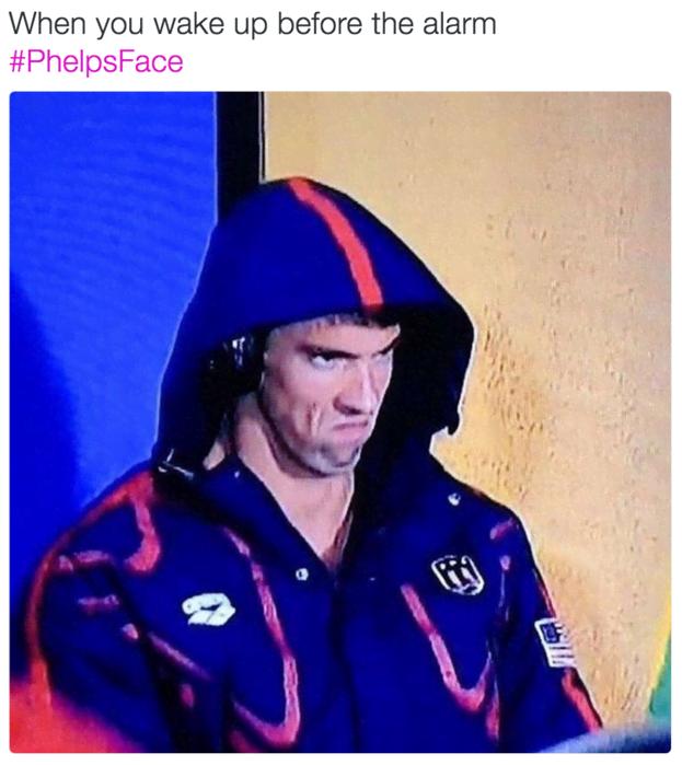 La #PhelpsFace immortalata alle Olimpiadi: quando Michael Phelps cede al lato oscuro della Forza...
