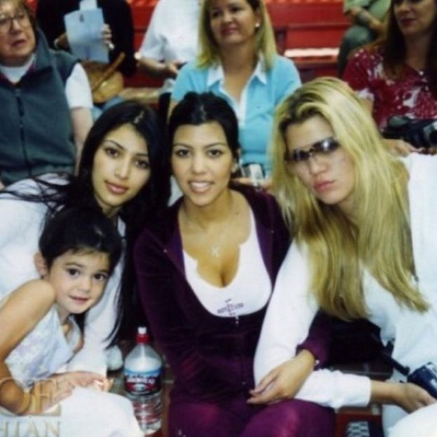 Kim, Kourtney, Khloe e una piccola Kylie