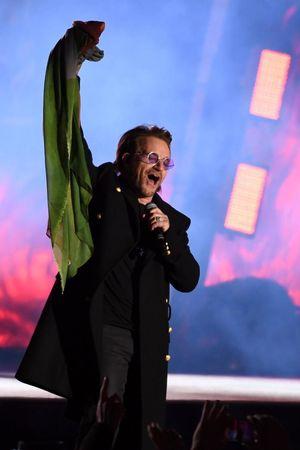 MTV EMA 2017: U2 e David Guetta a Londra, le foto del mega concerto a Trafalgar Square