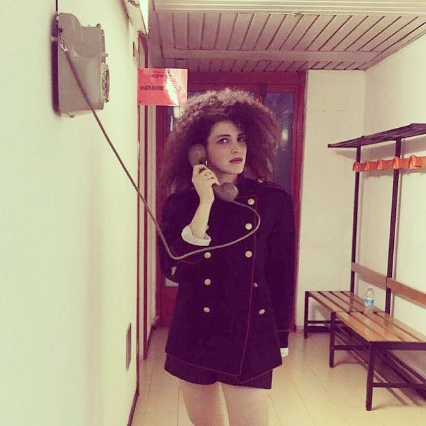 Marianne Mirage prima della sua esibizione nella seconda serata - che però non è andata tanto bene :(