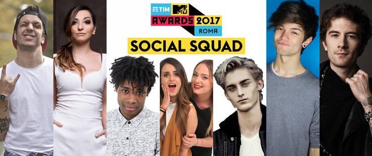 TIM MTV Awards 2017: la Social Squad