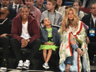 Beyoncé, Jay-Z e Blue Ivy: domingo à noite no NBA All-Star Game