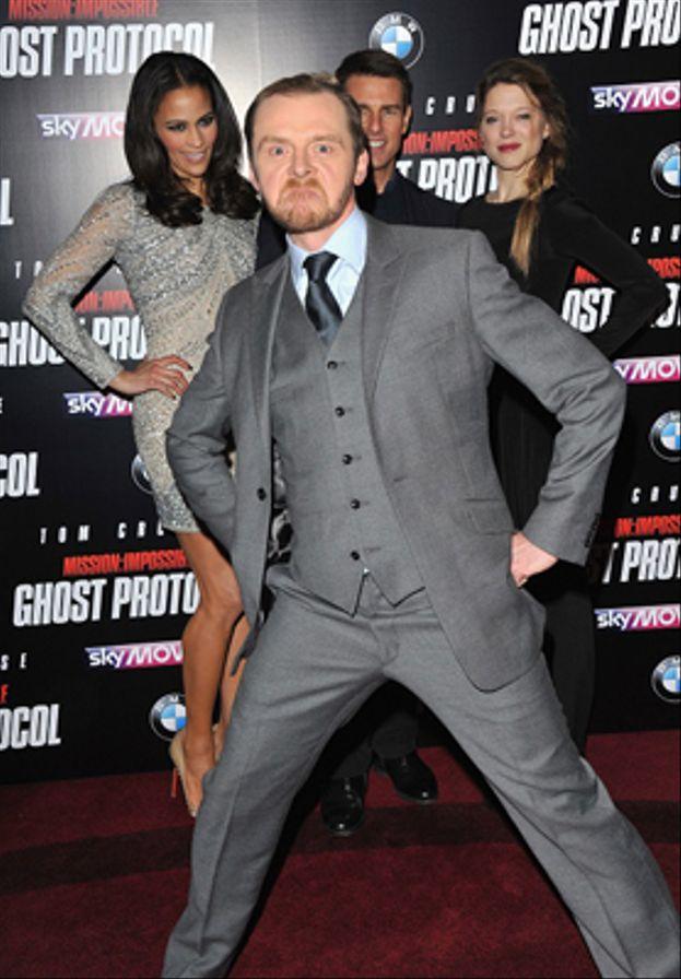 Simon Pegg a Tom Cruise