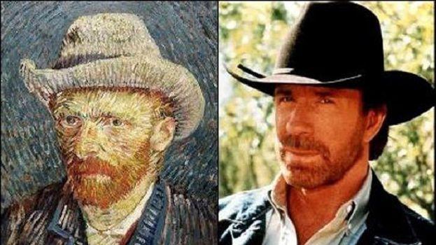 Chuck Norris y Vincent Van Gogh