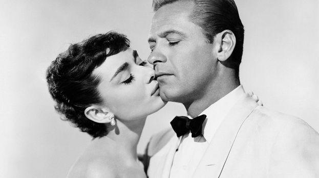 William Holden y Audrey Hepburn