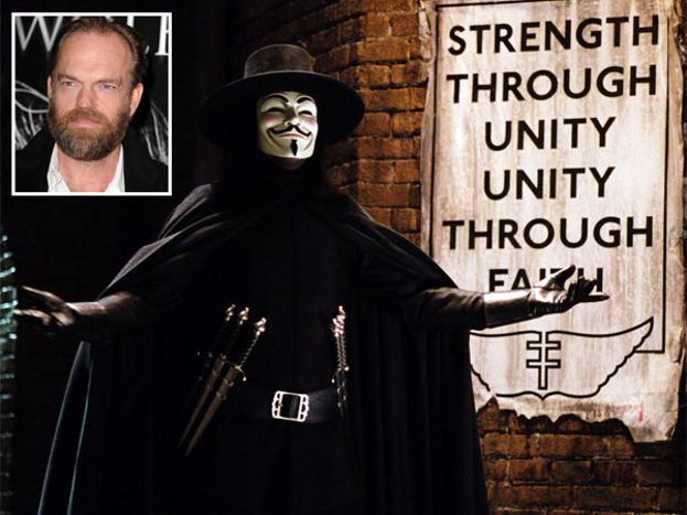 Hugo Weaving en 'V DE VENDETTA'