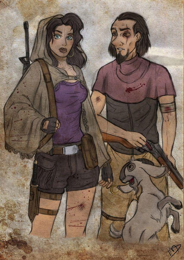 Esmeralda y Clopin