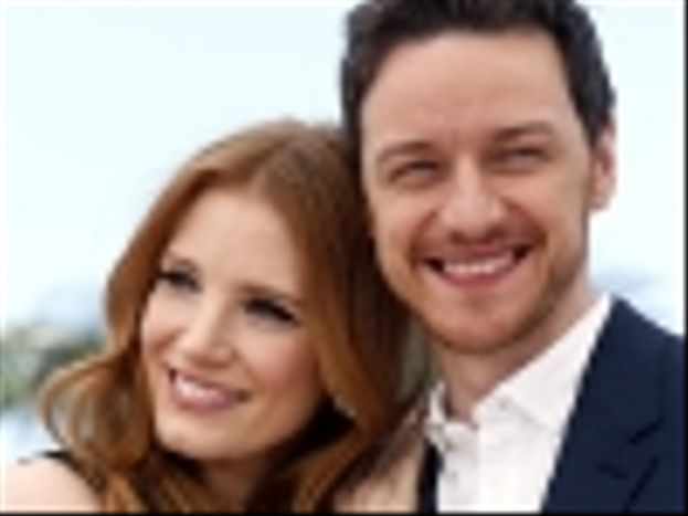 Jessica Chastain y James McAvoy