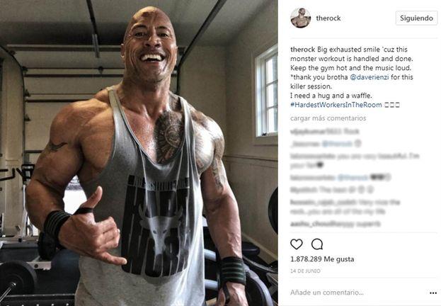 Dwayne Johnson (La roca) - 90,3 millones de seguidores