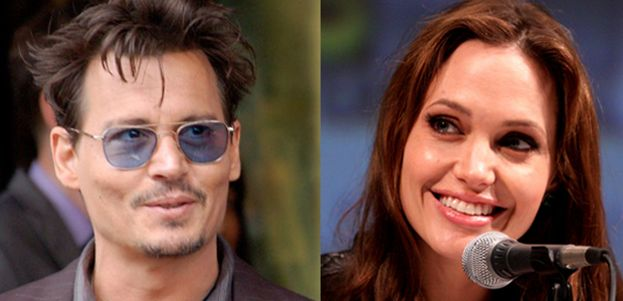 5.-Johnny Depp y Angelina Jolie