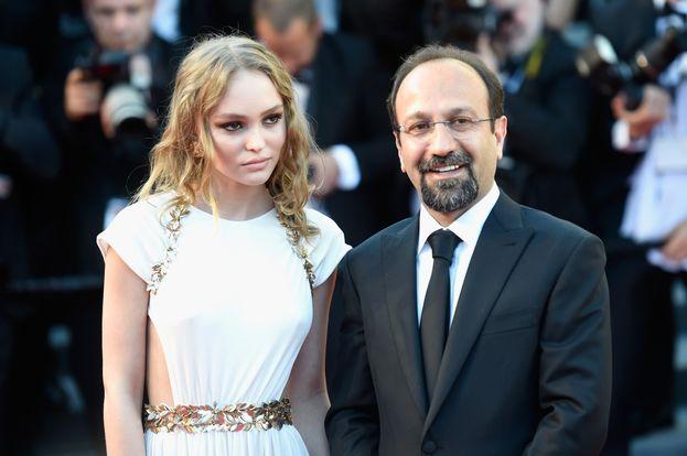 Asghar Farhadi y Lilly Rose Depp
