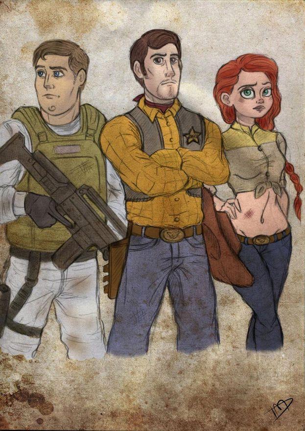 Buzz Lightyear, Woody y Jessie